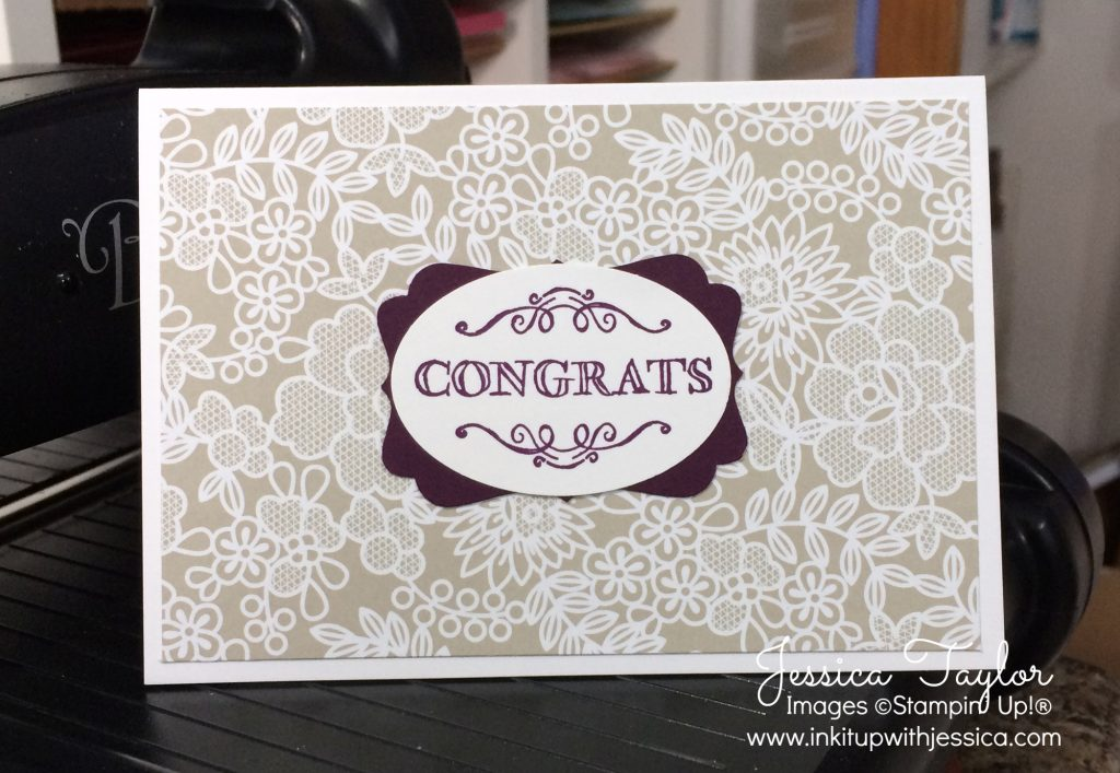 quick  easy wedding card  ink it up with jessica  card