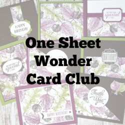 One Sheet Wonder Card Club