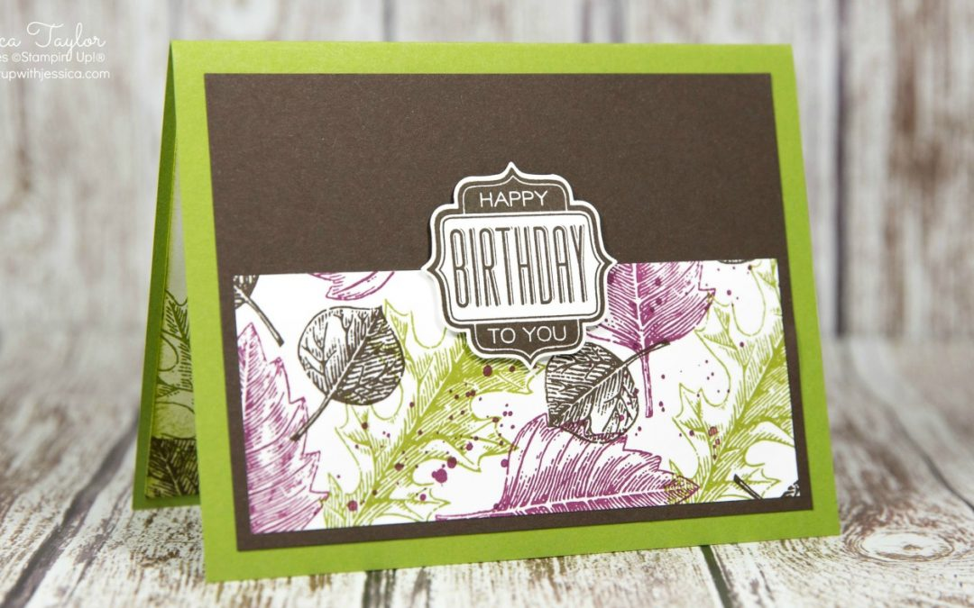 Vintage Leaves Birthday Card for Men
