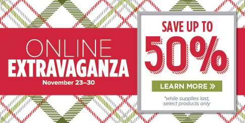 Stampin' Up!'s Online Extravaganza Ends Monday!