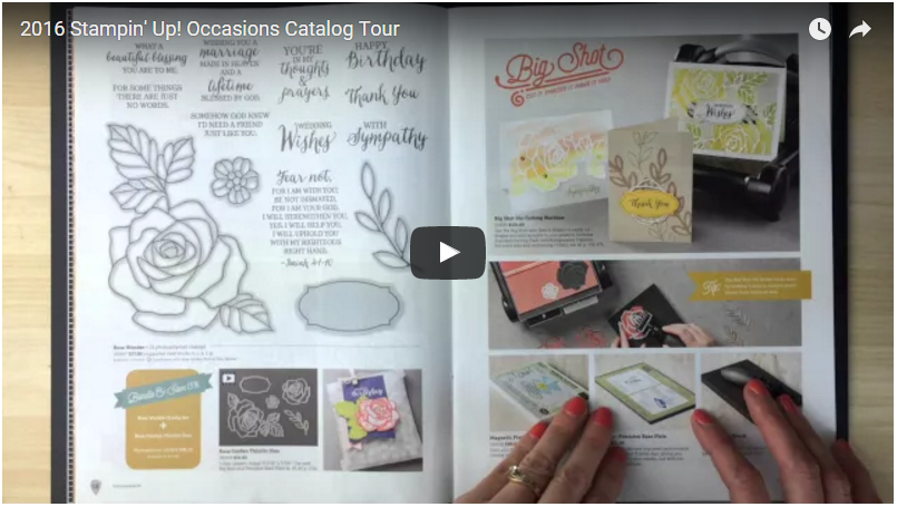 See What's Inside the NEW 2016 Stampin' Up! Occasions Catalog