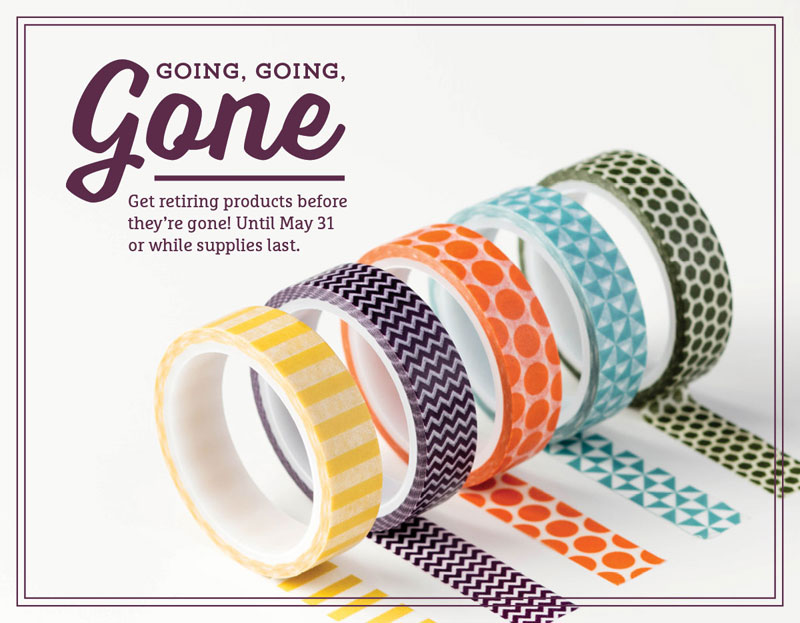 Retiring Products from the Annual AND Occasions Stampin' Up! Catalogs