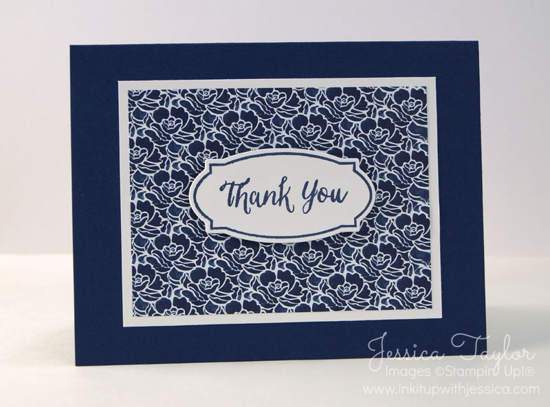 Navy Floral Boutique Thank You Card