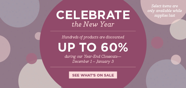 Stampin' Up! Year End Sale