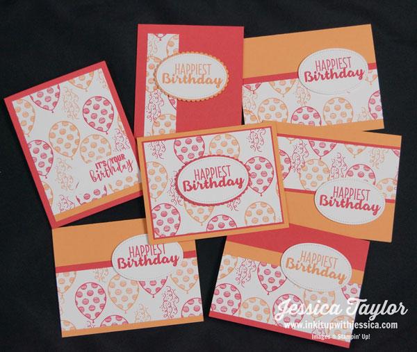 Birthday One Sheet Wonder Cards