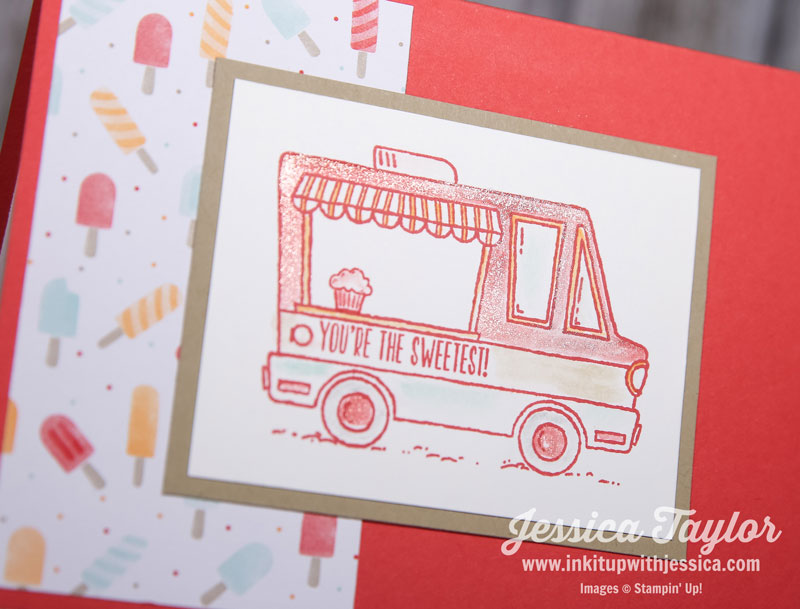 Tasty Trucks Card with Watercolor Tips