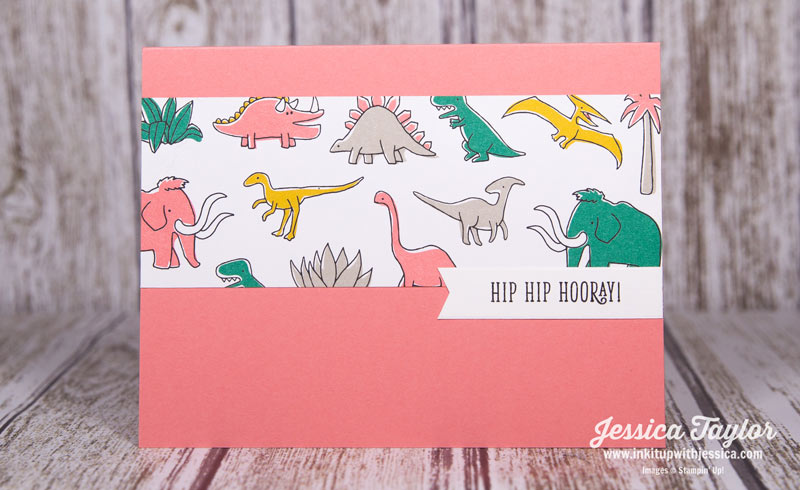 Dinosaur Hip Hip Hooray Card