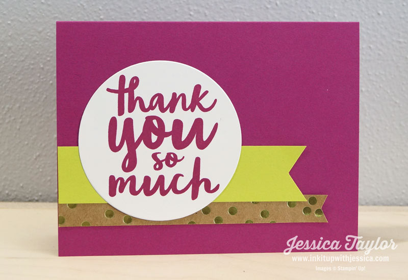 Birthday Thank You Card Ink It Up with Jessica – Thank You for the Birthday Card