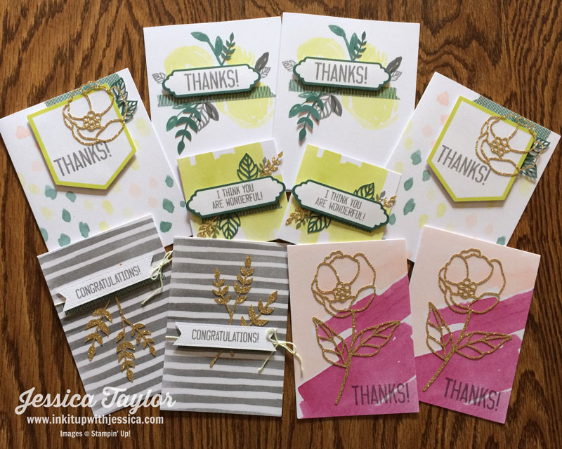 Stampin' Up! Soft Sayings Card Kit Cards