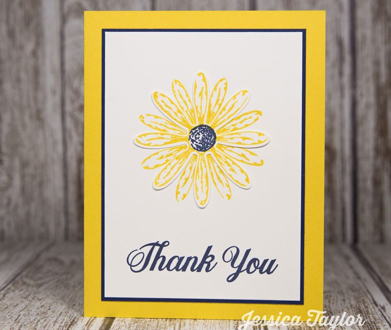 Clean & Simple Daisy Thank You Card