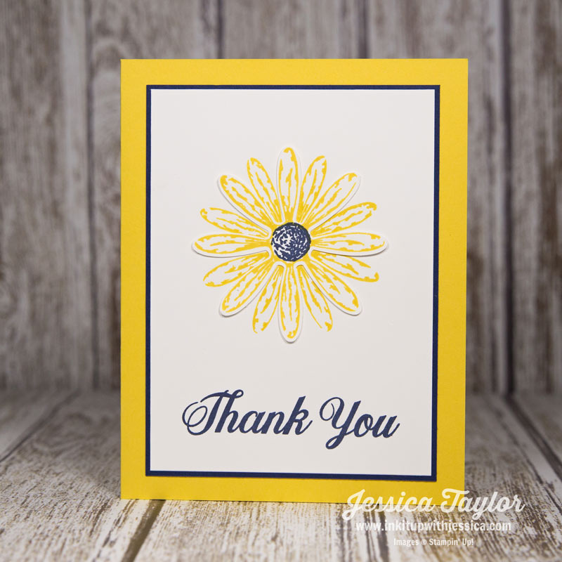 Yellow Daisy Thank You Card