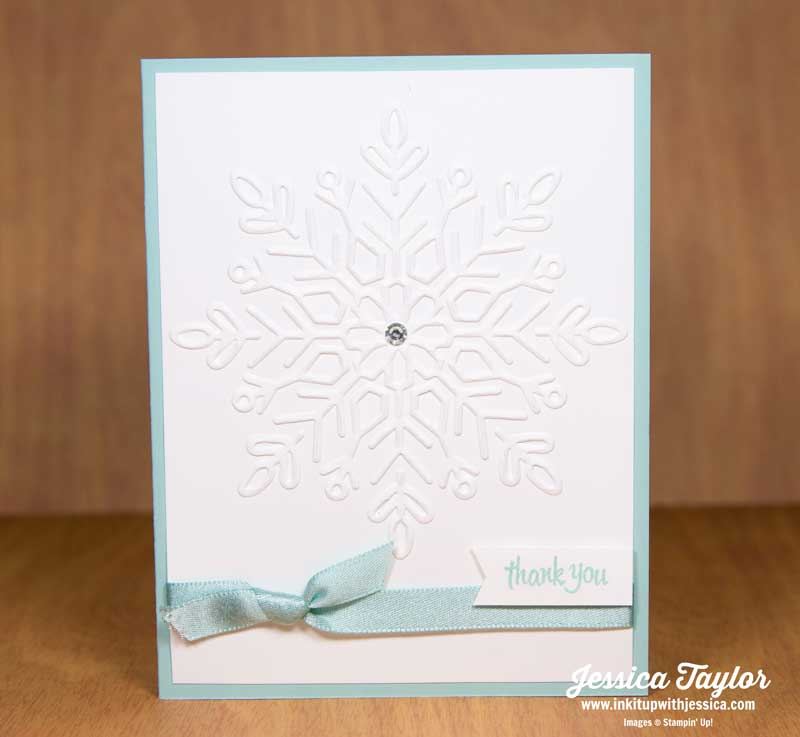 Embossed Snowflake Thank You Card