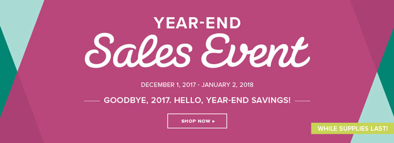 Stampin Up! Year End Sale 2017 - while supplies last!