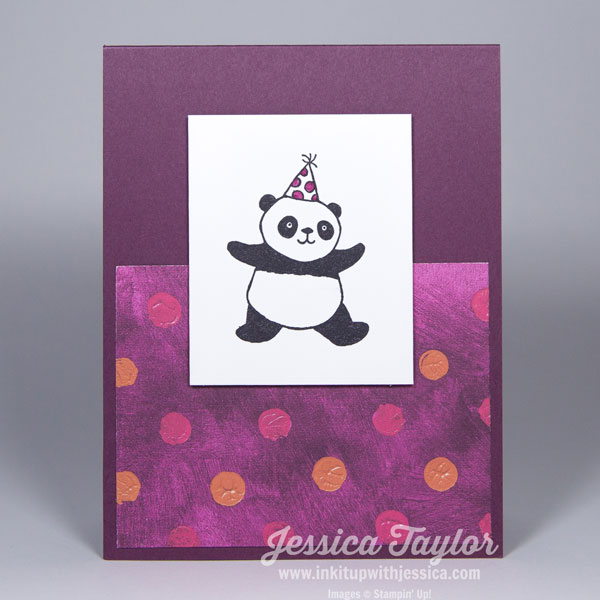Panda Party Polka Dot Card