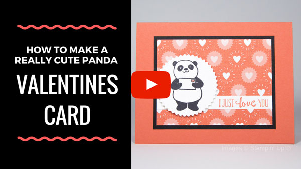 How to Make a Valentines Card with an Adorable Panda