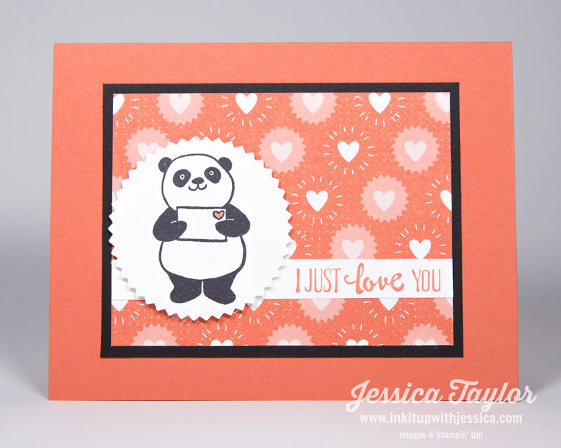 Panda Party Valentines Card