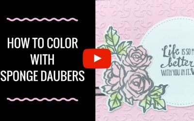 How to Color with Sponge Daubers