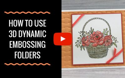 Tips for Using 3D Dynamic Embossing Folders