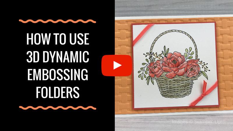 Tips for Using 3D Dynamic Embossing Folders