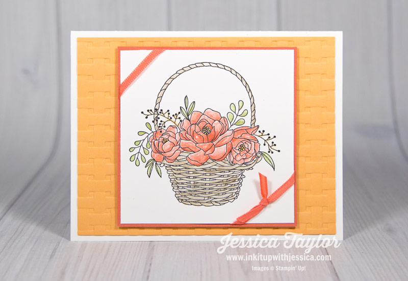 Calypso Coral Blossoming Basket Card