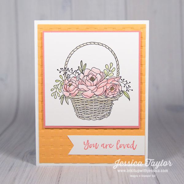 Flirty Flamingo Blossoming Basket Card