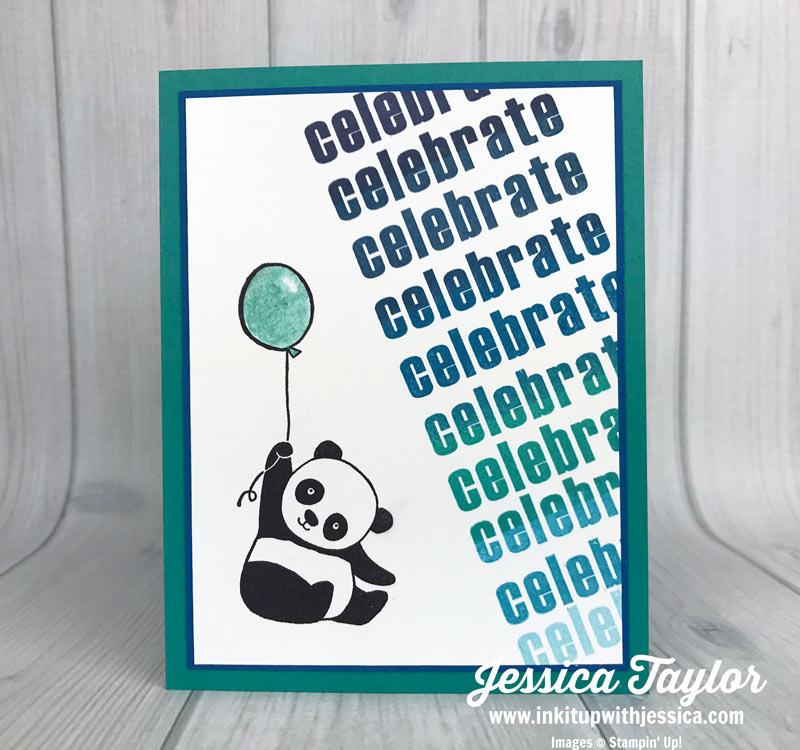 Panda Gradient Stamping Card