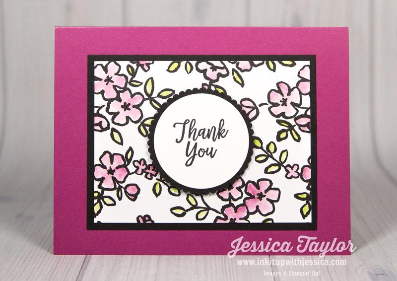 AquaPainter and Petal Passion Thank You Card