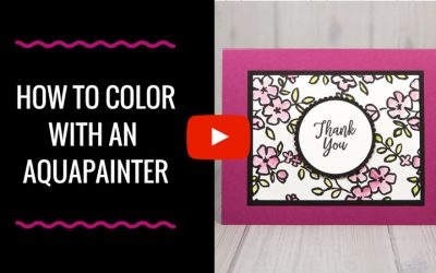 How to Color Designer Series Paper with an Aqua Painter!
