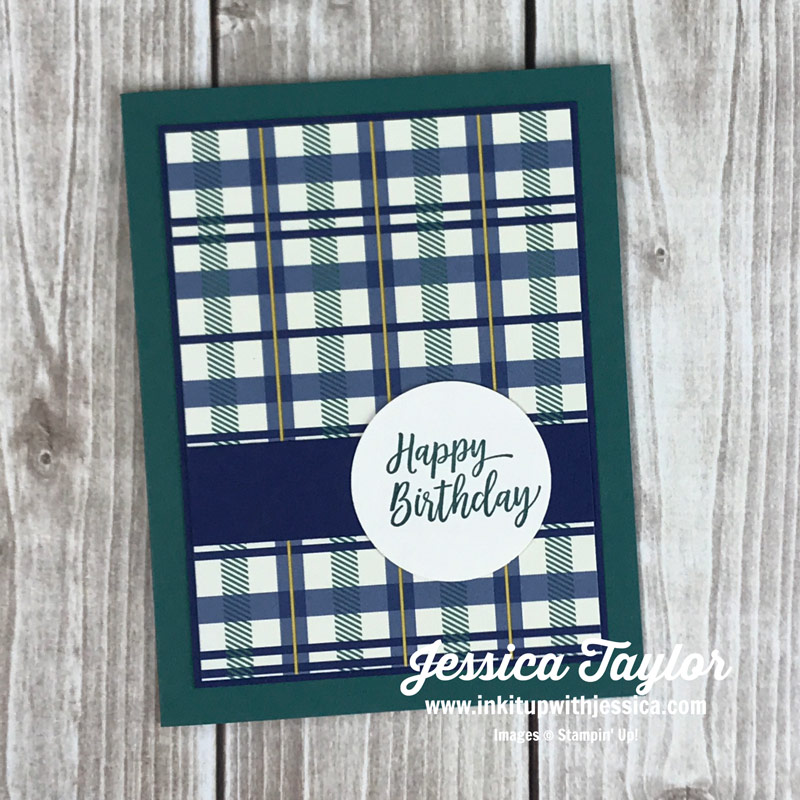 Quick Easy Masculine Card Ink It Up With Jessica Card Making
