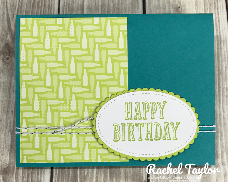 Happy Birthday Card with 3x4 Patterned Paper