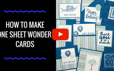 How to Make One Sheet Wonder Cards