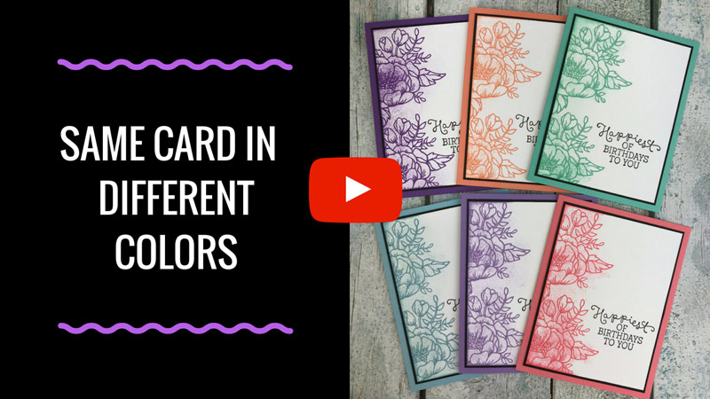 Make the Same Card in Different Colors!