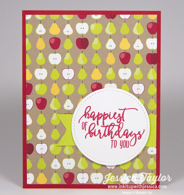 Tutti Frutti Birthday Card-Apples