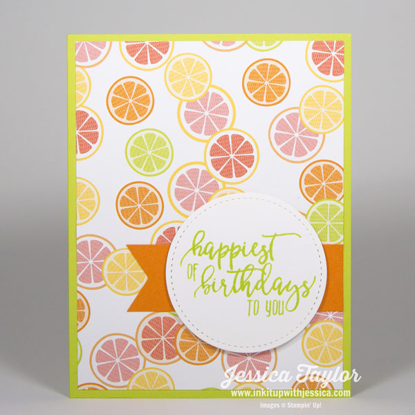 Tutti Frutti Birthday Card-Citrus