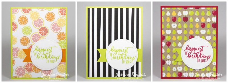 Tutti Frutti Cards - all with the same layout!