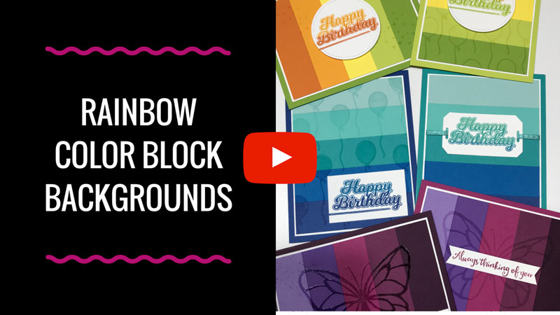 Rainbow Color Block Background for Cards