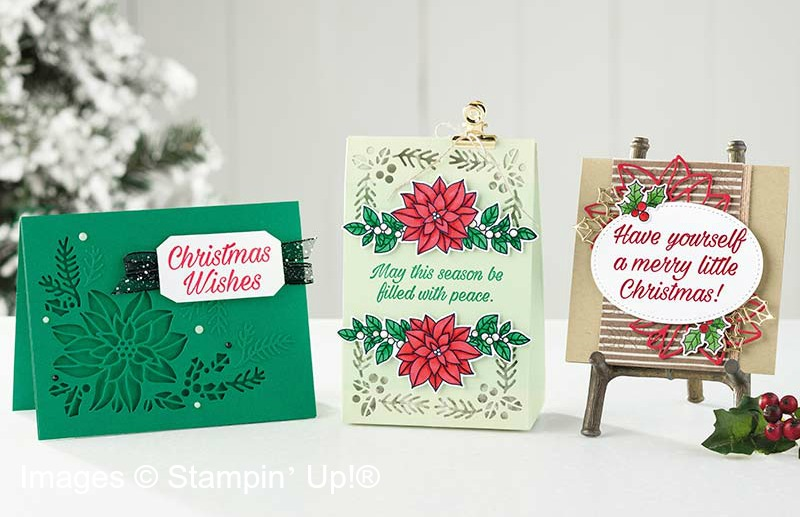 Peaceful Poinsettia Cards