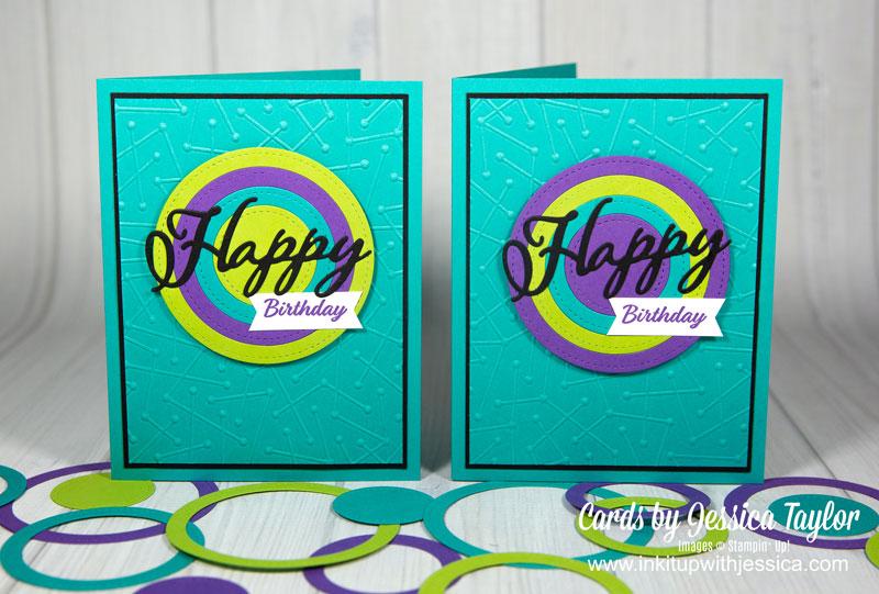 Nested Circle Die Birthday Cards