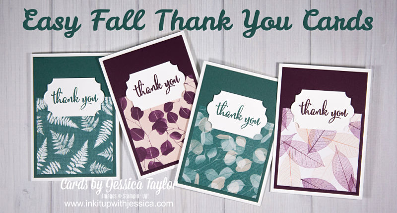 Easy Fall Thank You Cards