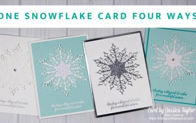 Snowflake Cards: One Card Four Ways