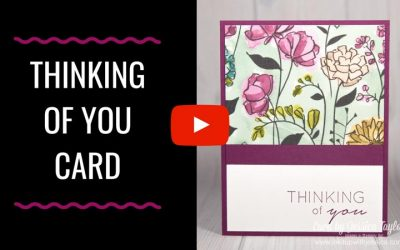 Easy Thinking of You Card with Pretty Paper
