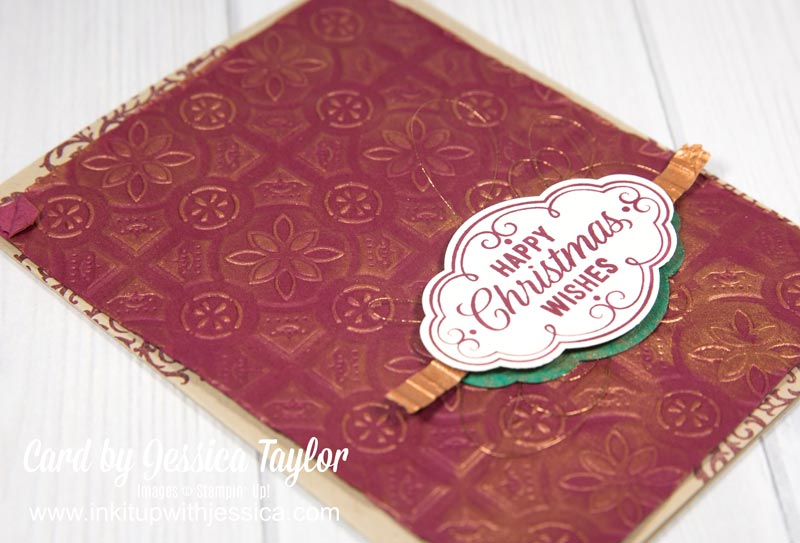 Shimmer Paint Christmas Card