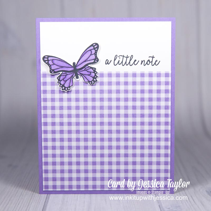 """Butterfly Gala """"Just a Note"""" Card"""