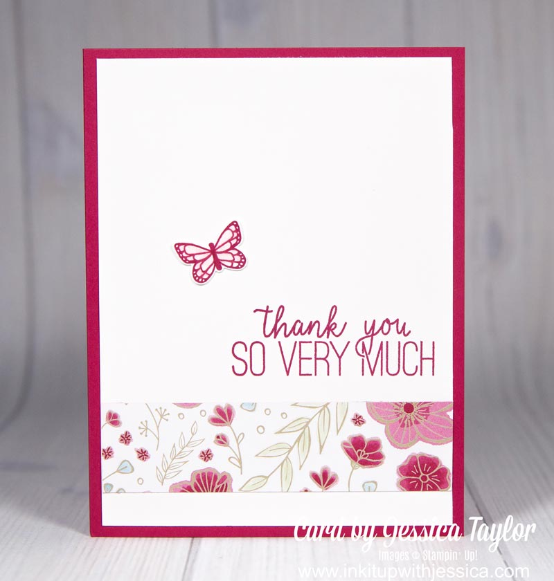 Paper Scrap Thank You Card