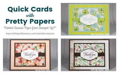 Quick Cards with Painted Seasons Paper