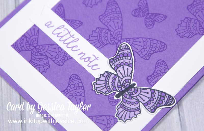 Monochromatic Butterfly Card
