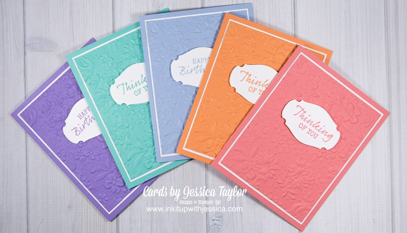 Country Floral Cards in a Rainbow of Colors!