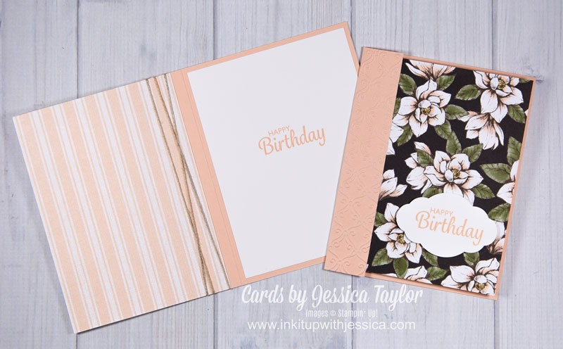 How to Show Off BOTH Sides of Your Pretty Paper on a Handmade Card