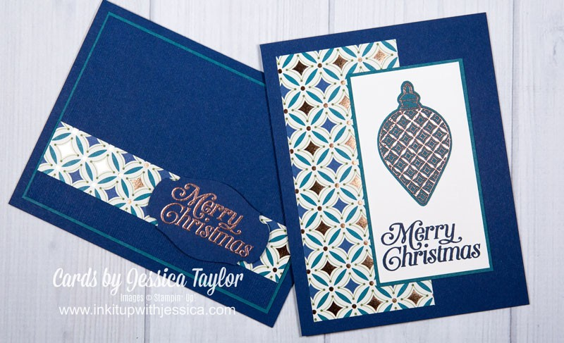 Copper Embossed Christmas Cards