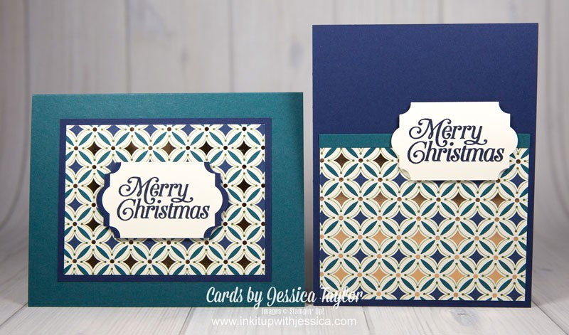 Super Easy Christmas Cards with Patterned Paper